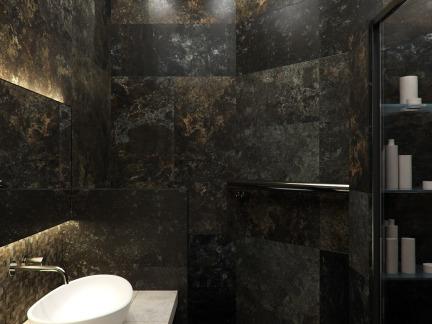 大理石石材瓷砖卫生间洗手台装修效果图