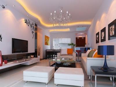 现代简约清新风格~-126平米四居室装修样板间