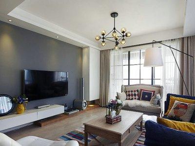 混搭风格-99平米三居室装修样板间