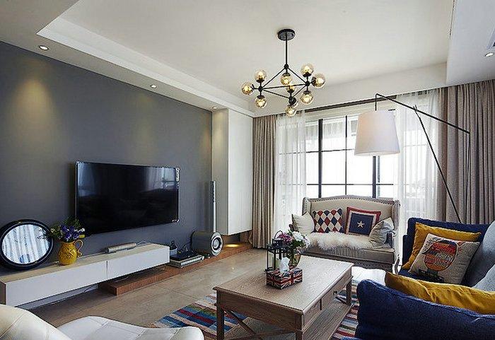 混搭风格-99平米三居室-装修样板间