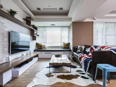 田园风格-0平米二居室装修样板间