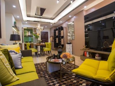 现代简约-112平米三居室装修样板间