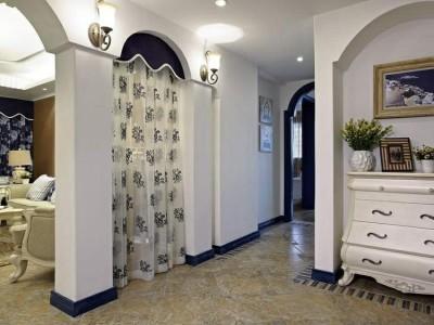 地中海风格-110平米三居室装修样板间