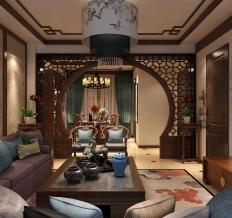 大溪谷三室两厅两卫中式风格