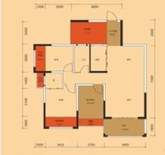 都市绿洲三居室现代简欧风格