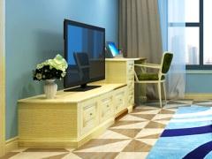 玛格定制家具 EM01欧式膜压电视柜 书桌组合A192