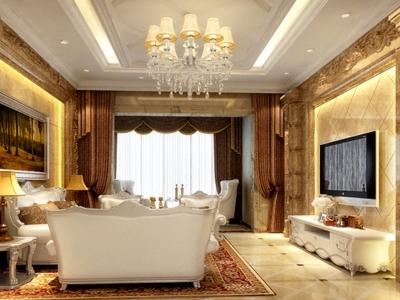 欧美风情-123平米四居室装修样板间