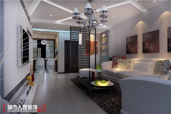 现代风格-117平米三居室-装修样板间