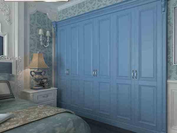 玛格定制家具 时尚新贵MC05赤杨木 纯色实木复合门欧式衣柜