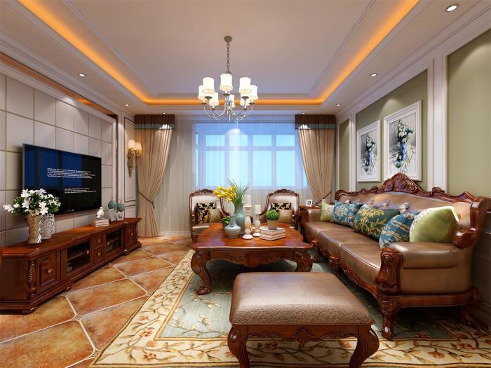 欧美风情-145平米三居室-装修样板间