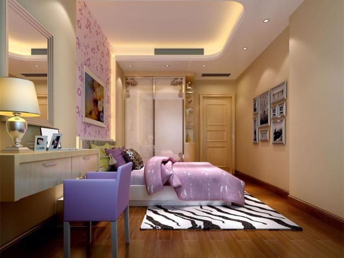 简欧风格-123平米四居室-装修样板间