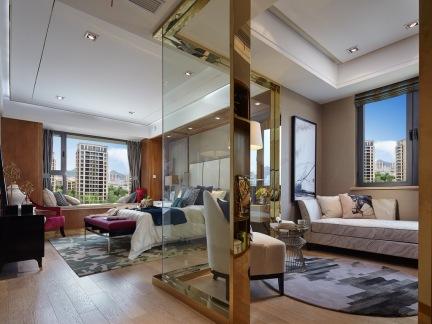 创意现代简约风格卧室装修效果图