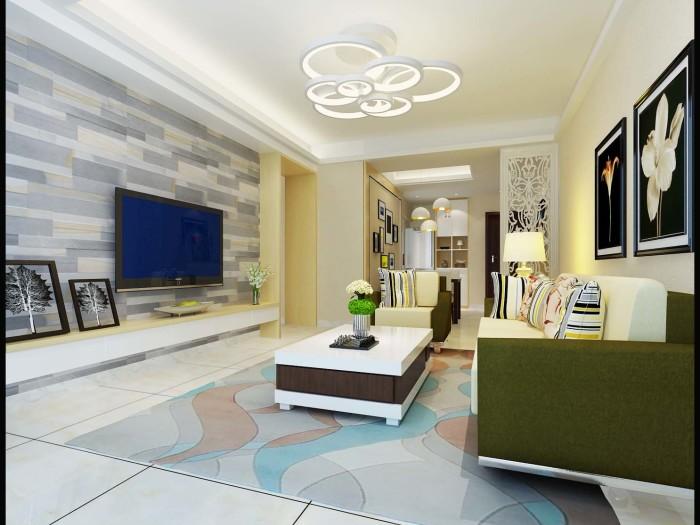 现代简约-106.29平米三居室-装修样板间
