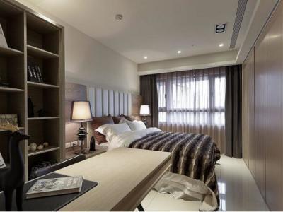 日韩风格-76.7平米二居室装修样板间