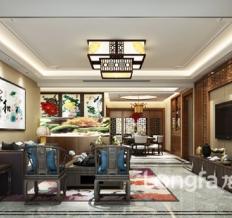 永昌·雍锦台194平米现代中式风格设计装修案
