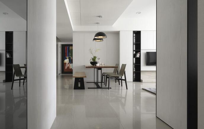 现代简约-128平米三居室-装修样板间