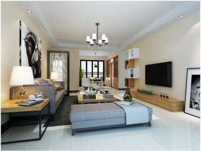 现代简约-130.17平米三居室装修样板间