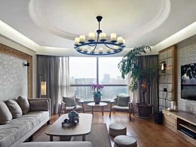 中式古典-181平米四居室装修样板间