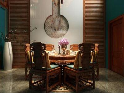 中式古典-190平米四居室装修样板间
