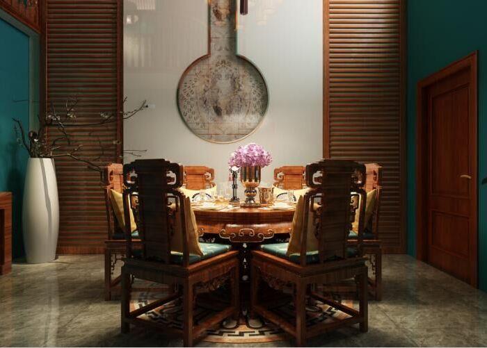 中式古典-190平米四居室-装修样板间