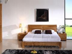 实木家具双人床单人床现在简约风格