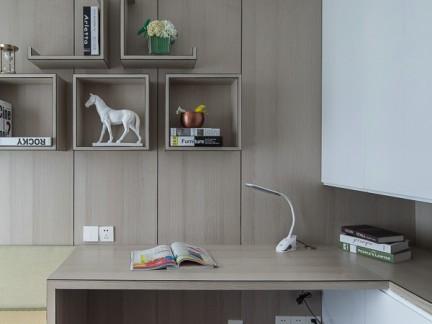 气质时尚现代风格书房书桌装修实景图