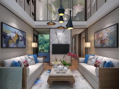 田园风格-160平米四居室装修样板间