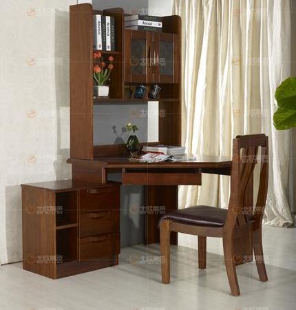 非洲海棠木实木书桌 电脑桌转角书桌写字台