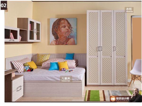 好莱客北欧风情系列多功能儿童房 经济型儿童房定制家具
