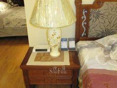 岛之宝DMN-21-3百叶镶嵌床头柜