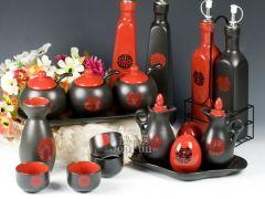 盛火TWG064陶瓷调味瓶婚庆套装调味罐18件套