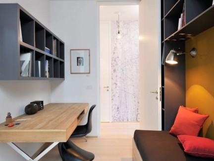 简约风格小面积简洁书房装修实景图