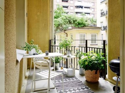 清新休闲北欧风格浪漫小阳台布置实景图