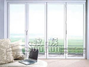 实德塑钢106型材中空玻璃平开门(国产配件)