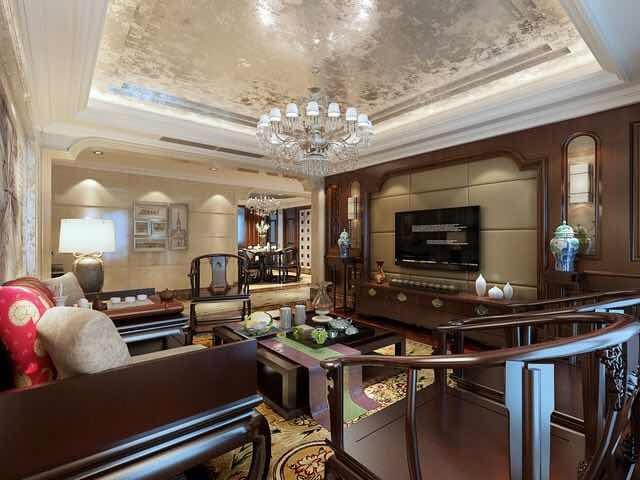 混搭风格-160平米五居室-装修样板间