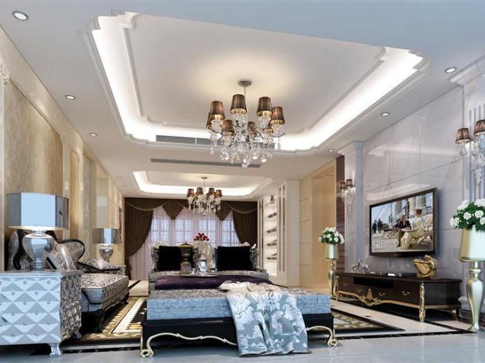 简欧风格-163平米四居室-装修样板间