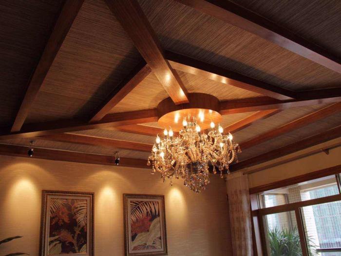 东南亚风格-140.56平米四居室-装修样板间