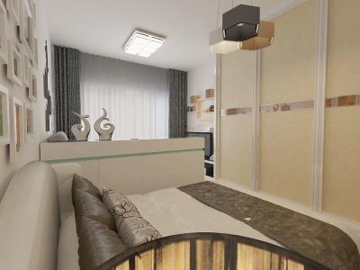 现代简约-41.5平米一居室装修样板间
