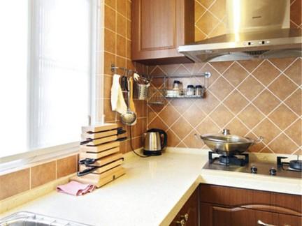 东南亚风格二居室厨房橱柜装修图片