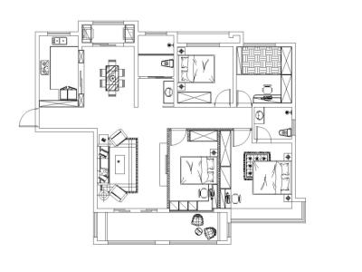 地中海风格-166平米四居室装修样板间