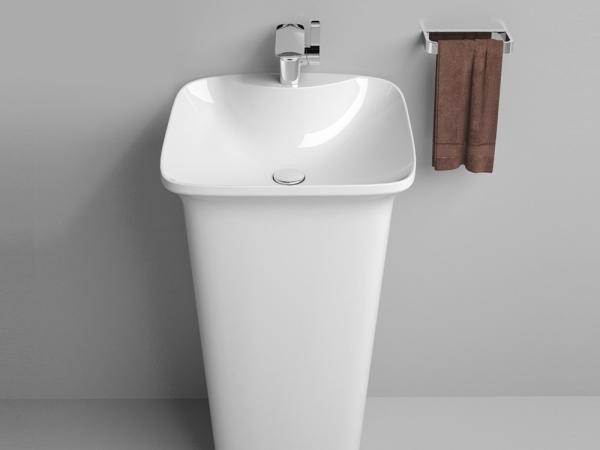 卫生间 阳台盆立柱盆 洗面盆洗手盆池 陶瓷落地 3006