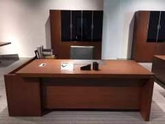 棕红色2米现代板式老板办公桌大班台经理桌主管桌