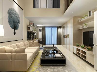 现代简约-65平米一居室装修样板间