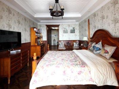 美式乡村-60平米一居室装修样板间