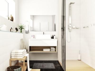 北欧风格-46平米一居室装修样板间