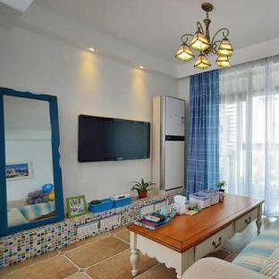 地中海风格三居室装修效果图
