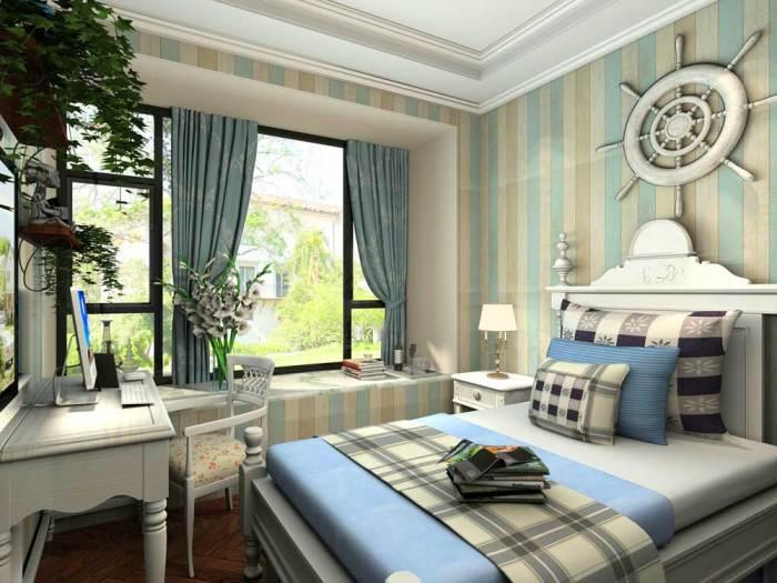 地中海风格-96.17平米二居室-装修样板间