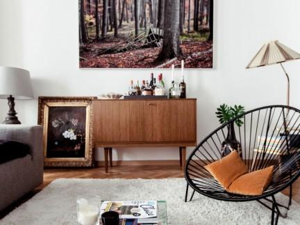 温馨怀旧简欧风格客厅背景墙装修图片