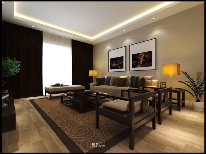 中式风格-134.44平米四居室-装修样板间