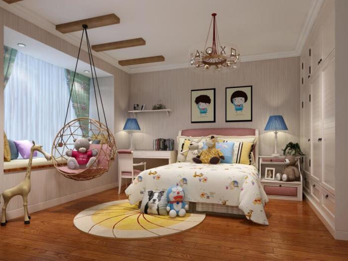 美式-120平米三居室-装修样板间